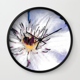 My Clematis Wall Clock