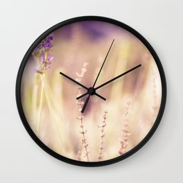 Lavender in Winter Wall Clock