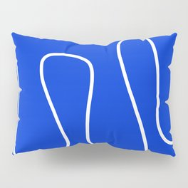 Blue Abstract Wave Pillow Sham