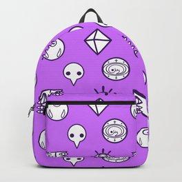 evangelion nerv angels pattern shinji purple Backpack
