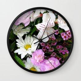 Birthday Flowers 2 Wall Clock