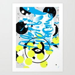 Please Tell Me More 3 Art Print