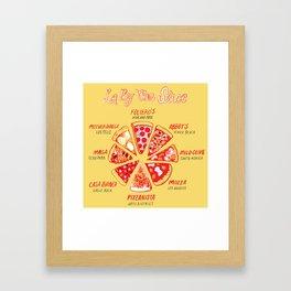 LA By The Slice Framed Art Print