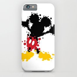 Mickey Mouse Paint Splat Magic iPhone Case