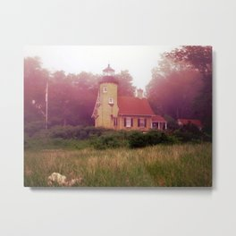Lighthouse Fog Metal Print