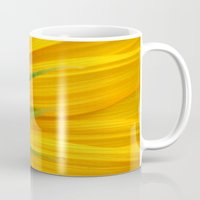 sunflower Mugs featuring Sunflower  by TDSWHITE