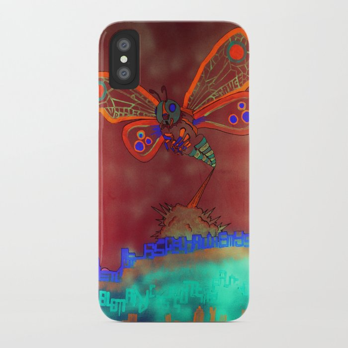 Bad Ash Mothra Funker Full (Wobblesauce) iPhone Case