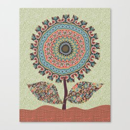 Fabby Flower-Vintage colors Canvas Print