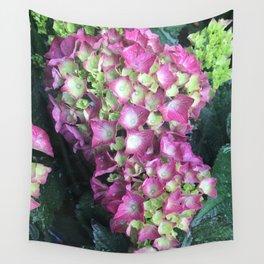 Pink Raindrops Wall Tapestry