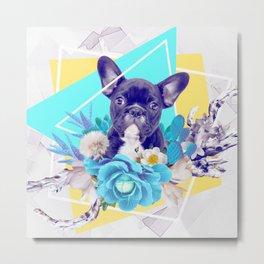 Eclectic Geometrical Bulldog Metal Print