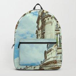 Haussmannian Building in Paris Backpack