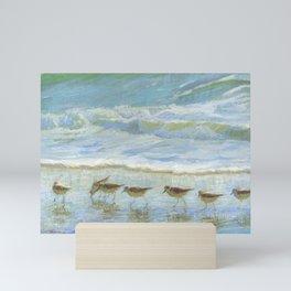 Shorebirds, A Day at the Beach Mini Art Print
