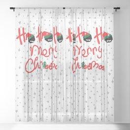 ho ho ho little santa Sheer Curtain