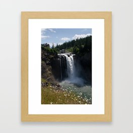 Snoqualmie Falls Hydroelectric Plant Framed Art Print