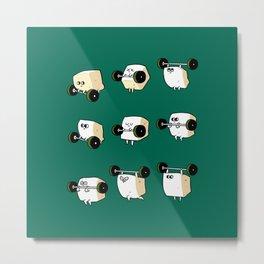 OLYMPIC LIFTING  Tofu Metal Print