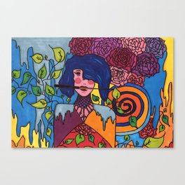 The lady and the knife Canvas Print