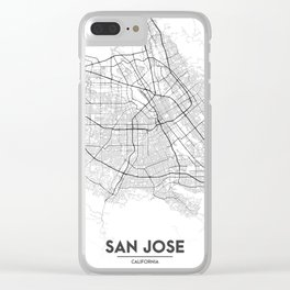 Minimal City Maps - Map Of San Jose, California, United States Clear iPhone Case