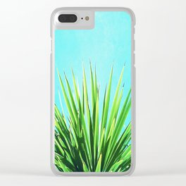 Solar Yucca Palm Clear iPhone Case