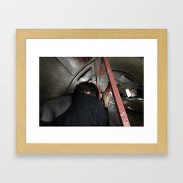 Hard Ladder Framed Art Print