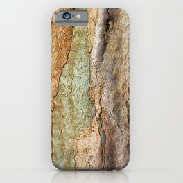 Eucalyptus Tree Bark and Wood Abstract Natural Texture 36 iPhone Case