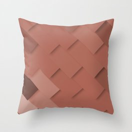 Terracotta pattern, layered like shingles, tiles or paint swatches you just cannot choose from! Throw Pillow