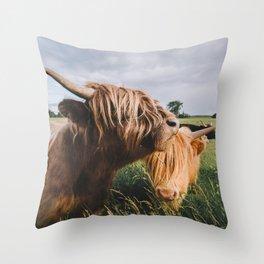 Highland Cows II Throw Pillow