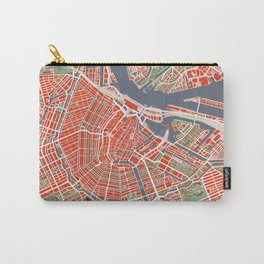 Amsterdam city map classic Carry-All Pouch