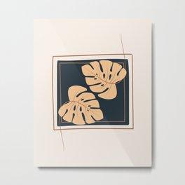 The Wall Theory Boho Leaf Art Metal Print