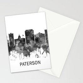 Paterson New Jersey Skyline BW Stationery Cards