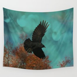 Soaring Crow Wall Tapestry
