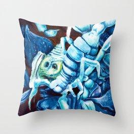 Escher's Scorpion Throw Pillow