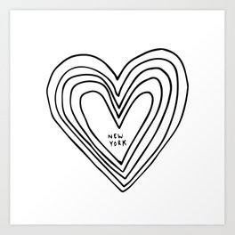 All Day. Every Day. Heartbeats for NYC. Art Print