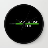 jedi Wall Clocks featuring House Jedi by Jung311