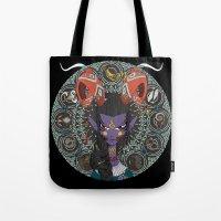 zodiac Tote Bags featuring Zodiac : Capricorn by Det Tidkun
