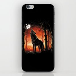Howling Wolf at Sunset iPhone Skin