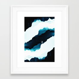 Teal Isolation Framed Art Print