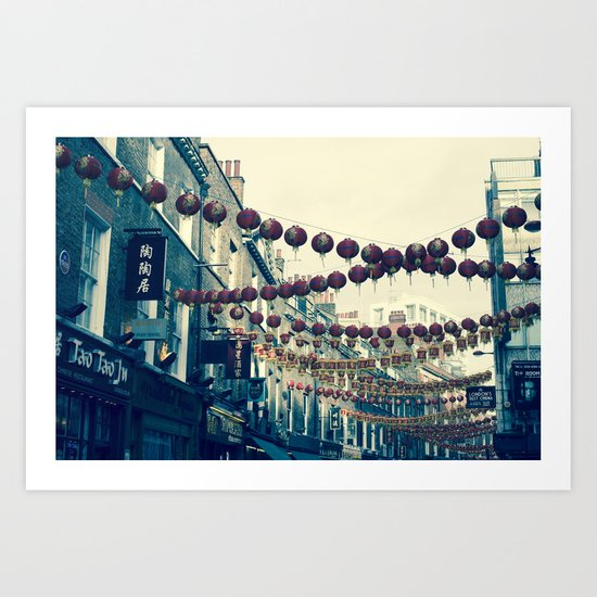 London Chinatown Art Print