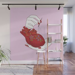 Heart - ( care for your soul ) Wall Mural