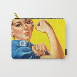 Rosie The Riveter Vintage Women Empower Women's Rights Sexual Harassment Carry-All Pouch