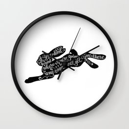 ALICE RABBIT Wall Clock