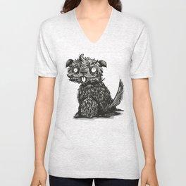 Scruffy Dog Unisex V-Neck