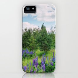 Wild lupins iPhone Case