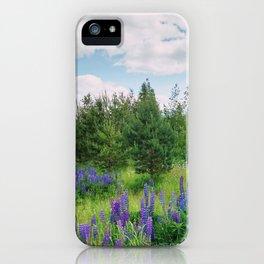 Wild lupins iPhone Case