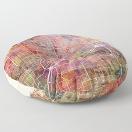 Chicago map Floor Pillow