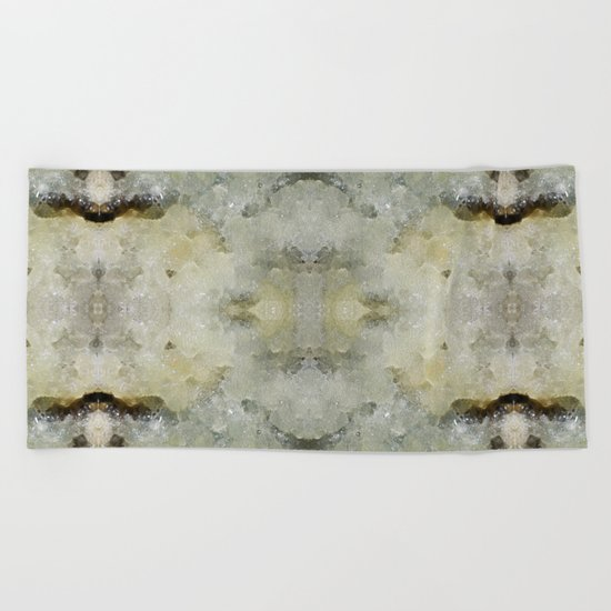 Abstract marble pattern Beach Towel