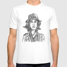 Hypebeast with Braces as a Girl White SMALL Mens Fitted Tee