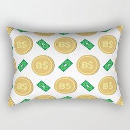 Bahamas's Bahamian Dollar B$ code BSD banknote and coin pattern wallpaper Rectangular Pillow