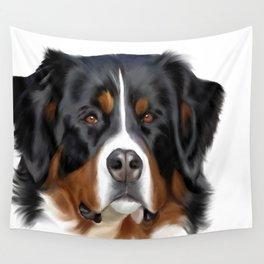BERNESE MOUNTAIN DOG ART Wall Tapestry
