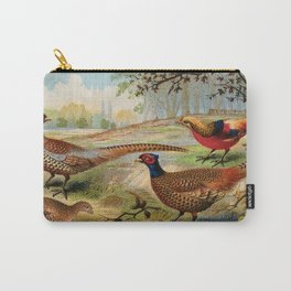 Vintage Pheasants Carry-All Pouch