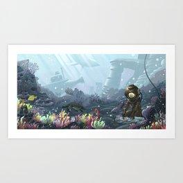 Underwater Gardener Art Print